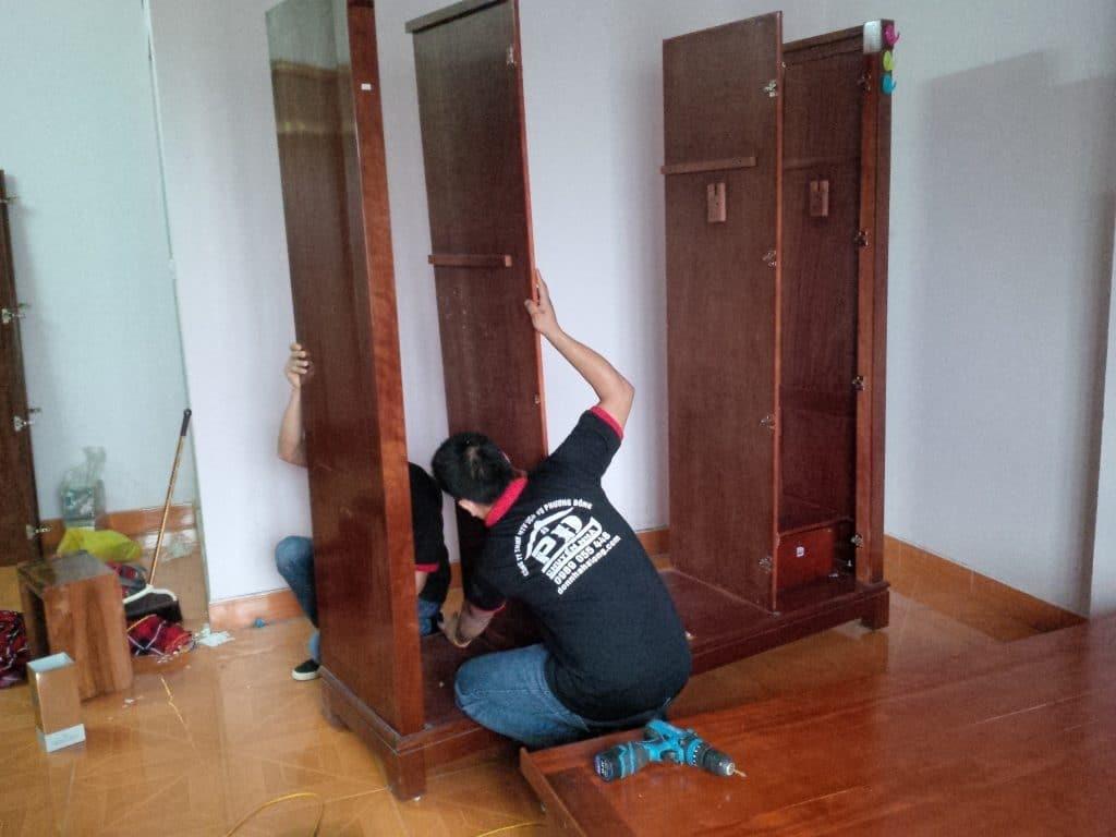 Tháo lắp giường tủ - Chuyển nhà Hạ Long