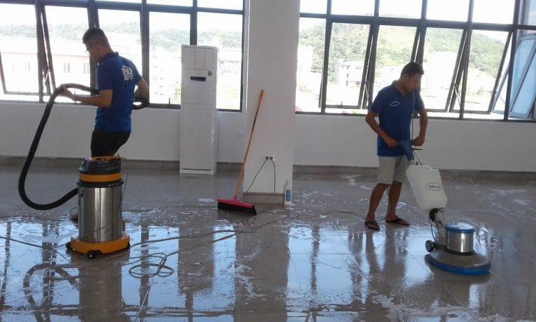 Dọn vệ sinh công nghiệp sau xây dựng tại Hạ Long, Quảng Ninh