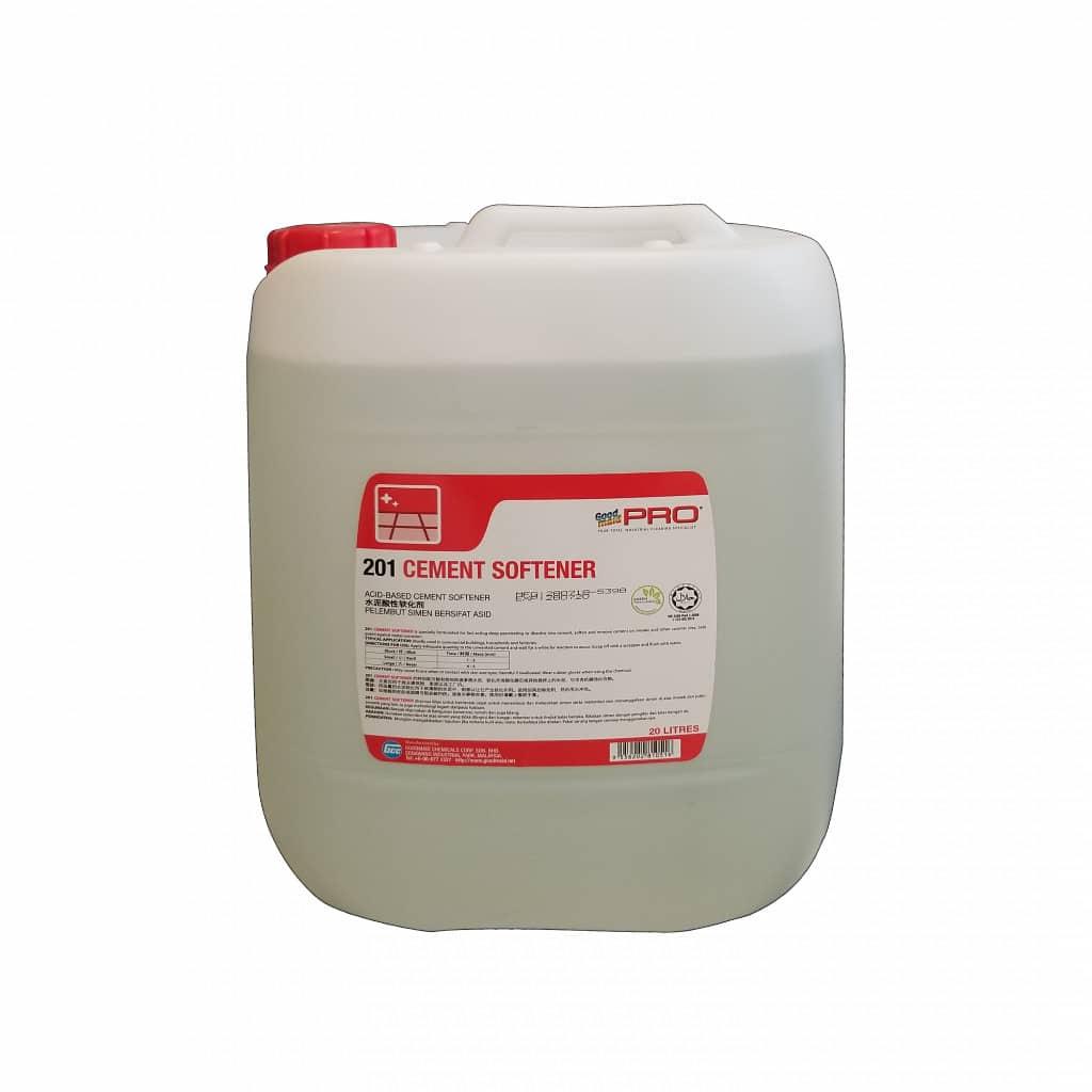 Goodmaid PRO Cement Softener 201 - giúp làm mềm xi măng bám trên mặt nền nhà, rất hiệu quả khi cần tẩy xi măng