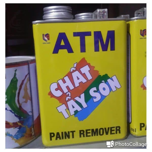 ATM hoá chất tẩy sơn trên nền nhà thông dụng